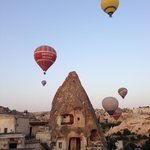 Kelebek is a great place to watch the balloons in the morning!