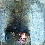 fireplace on a cool night