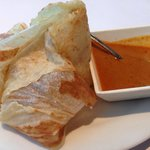 Roti Prata $3.50 multi-layered home made Indian bread dipped in curry sauce