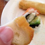 Bread rolled up in the Sushi?!?!