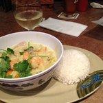 Lemongrass curry shrimp