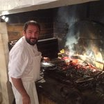 Chef Thierry working on a perfect Cote de Bouef