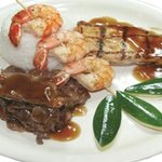 Island Mixed Plate, Served with your choice of Steamed Rice, Seasoned Fried Rice & Mashed Potato