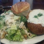 Soup & Salad Combo: Chicken Caesar & Clam Chowder