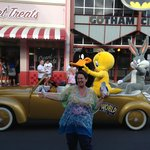 Tweety Bird,Daffy Duck & Bugs Bunny on parade if you're lucky you can get a photo of yourself ne