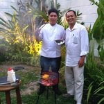 The Chef & Mr Tevu (the manager) on BBQ night