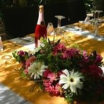 Golden wedding table
