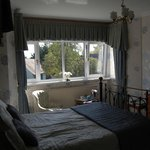 the lovely blue room overlooking the garden