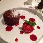 "Chocolate ""lava"" cake"
