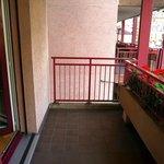 Balcony on street side