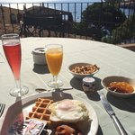 Desayuno con vistas preciosas