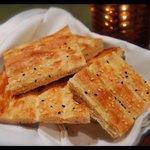 Fresh baked Barbari bread at Restaurant Yas