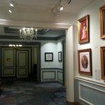 Art in hallway adjacent to first floor lobby.
