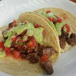 I ordered pork tacos, and this is what I received. They were good, but rather plain tasting. The