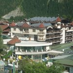View of hotel from the next door cable car