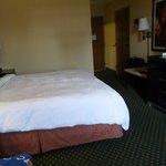 Our room at the Hampton Inn