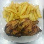 Plat du jour  1/2 poulet grillé a 9€90