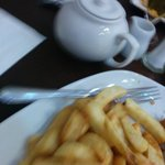 Lovely Yorkshire Tea and Fish and Chips - what could be better?