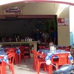 Tacos Tumbras outside the mercado