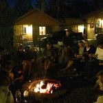 Smores and really interesting fellow travelers around the firepit