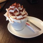 Cappuccino with wipes cream and chocolate