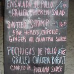 Daily Specials are posted on a chalkboard