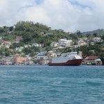 St Georges vu du bateau en allant à Grand Anse