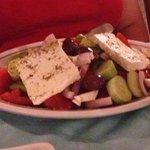 Greek salad at hotel