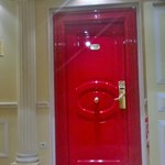 the lacquered red door