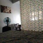 """La camera con """"tenda"""" per nascondere il letto al palazzo di fronte...una cosa raccapricciante..d"""