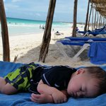 Zzzzzz... nice!  Now Mommy and Daddy can swim in the beach!