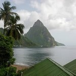 View of Soufriere Bay from our room