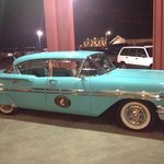 1 of 2 classic cars you pick to take you to town.