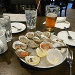 Loving those Malpeque Oysters at the Olde Dublin Pub