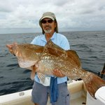 33' red grouper caught on Captain Tom's 'Another Keeper'
