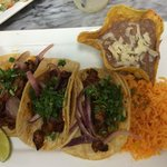 3 taco plate. El pastor Mexican style