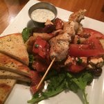 Village salad with a side of grilled chicken - fresh and delicious