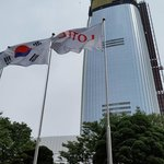 The new Lotte Hotel with 128 Storey next to Lotte World