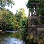 Grecian gazebo on Water of Leith