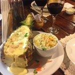 Camarão no abacaxi!!! Delicioso!!!