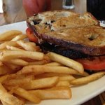 Grilled Cheese with bacon steak