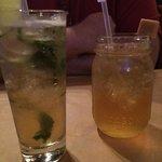 Mint julep and caramel apple moonshine.  Both very good.