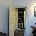 Dressing area, closet, safe, mini bar