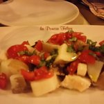 appetizer octopus with tomatoes & herbs