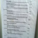 Copy of Menu from September 6, 2014