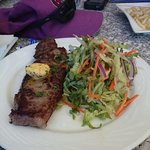 Steak and Salad.