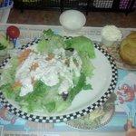 HUGE salad, fresh, crisp and delicious!!!