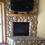 Rock Gas Fireplace & TV