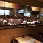 Open kitchen; warm staff