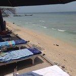 beach strip with nice matrasses